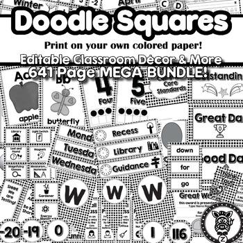 Doodle Square Theme