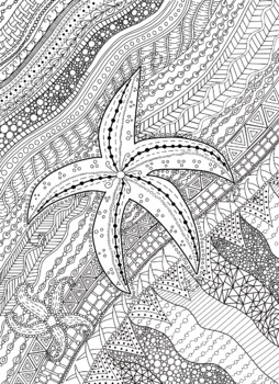 Doodle Starfish Color Sheet