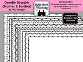 Doodle Straights {Frames & Borders}