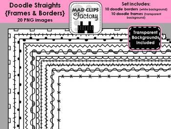 Doodle Straights {Frames & Borders}