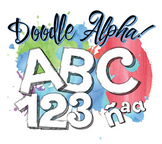 "Doodle Style Clip Art Alphabet, 99 PNGs, 3.5"" 300 DPI  Vector and PNG"