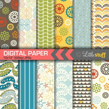 Doodle Style Digital Papers