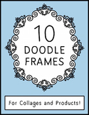 Doodle Style Frames ~ Collages and Products {Commercial Us