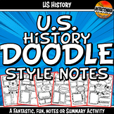 Doodle Style Notes for US or American History Summary or Review Activity