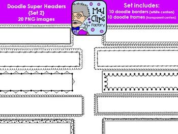 Doodle Super Headers Set 2