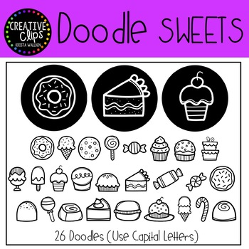 Doodle Sweets FONT {Creative Clips Clipart}