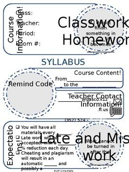 Doodle Syllabus *EDITABLE*