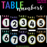 Doodle Table Numbers