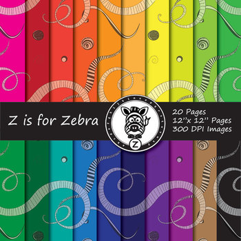 Doodle Themed Digital Paper Pack - Commercial Use ok