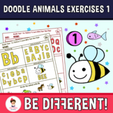 Doodle Animals Exercises 1 Clipart