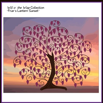 """Doodle Trees Clip Art - Collection One """"Will o' the Wisp"""" Commercial Use OK"""