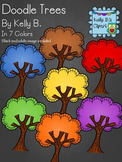 Doodle Trees Clipart by Kelly B.