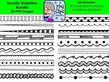 Doodle Underline Bundle