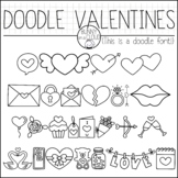 Doodle Valentines by Bunny On A Cloud (This is a doodle font!)