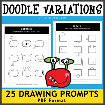 Doodle Variation Drawing Prompts