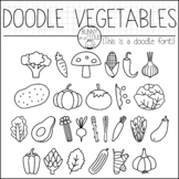 Doodle Vegetables by Bunny On A Cloud (This is a doodle font!)