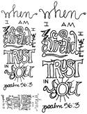 Doodle Verse: Psalm 56:3