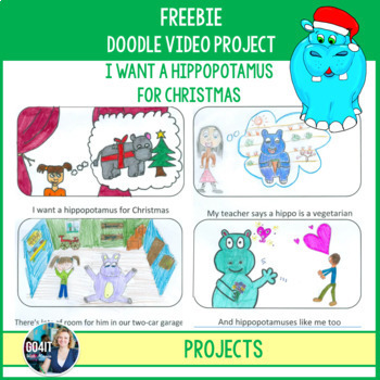 Doodle Video Project: I Want a Hippopotamus for Christmas Song