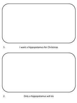 "Doodle Video Project ""I want a hippopotamus for Christmas"" FREEBIE"