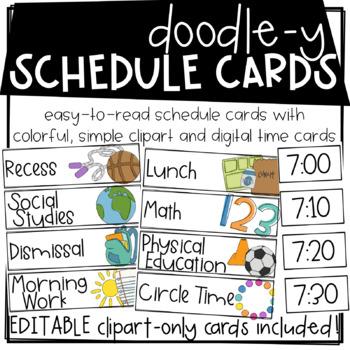 Doodle-y Visual Schedule Cards