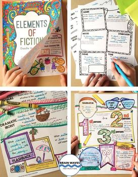 Doodle Vocabulary - Elements of Fiction - 36 Fiction Vocabulary Words & Doodles