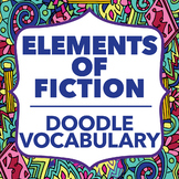 Doodle Vocabulary - Elements of Fiction - 36 Fiction Vocabulary Words & Doodles