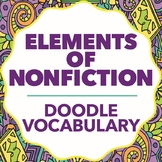 Doodle Vocabulary - Elements of Nonfiction - 36 Nonfiction Words & Doodles