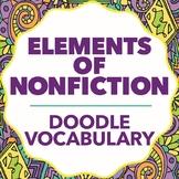 Doodle Vocabulary - Elements of Nonfiction - 36 Nonfiction Words & Doodles