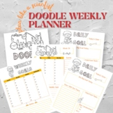 Science-Themed Doodle Weekly Planner