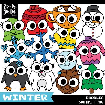 Doodle Winter Clipart Set {Zip-A-Dee-Doo-Dah Designs}