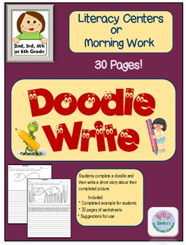 Doodle Write - Literacy Centers or Morning Bell Work for 30 Days!