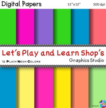 Doodle ZigZag Digital Papers in Neon Colors