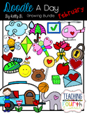 Doodle a Day February by Kelly Benefield