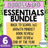 Doodle and Do Essentials Bundle - Back to School, Growth Mindset, Reflections