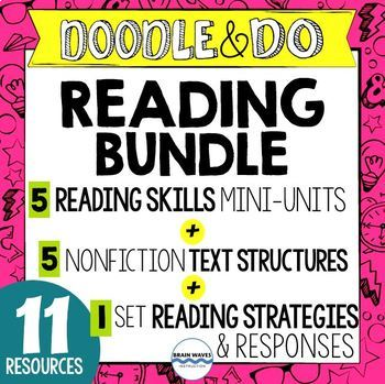 Doodle and Do Reading Bundle - 11 Doodle Reading Resources
