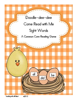 Doodle-dee-dee Come Read with Me Sight Words