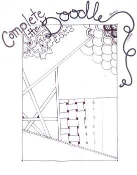 Zentangle Doodle worksheet #1