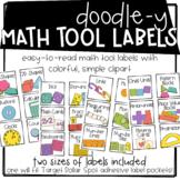 Doodle-y Math Tool Labels
