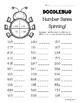 Doodlebug Number Sense Spinning Worksheets -- Leveled Math Center -- 2 sheets