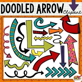 Doodled Arrow Clip Art