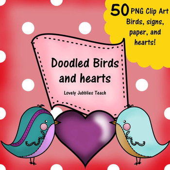 Doodled Birds and More Clip Art Set