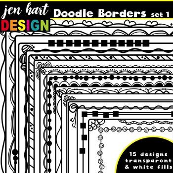 Borders Clipart {Doodle Set 1}