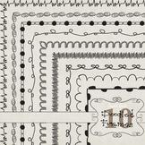 Doodled Frames Set 10