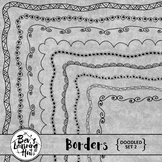 Doodled Borders Set 2