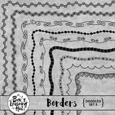 Doodled Borders Set 3