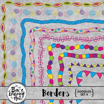 Doodled Borders Set 4