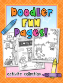 Doodler Fun Pages - Monthly Activities and Coloring Pages