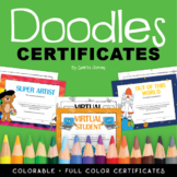 Doodles Certificates Book Student Recognition Certificates