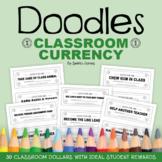 Doodles Classroom Currency | Classroom Reward Coupons | Class Reward Ideas