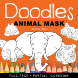 Doodles Colorable Animal Mask Book – Theatre – Imagination